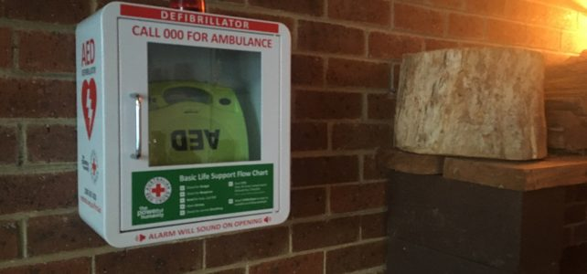 Defibrillator at the lodge